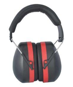 Gehörschutz aus Kunststoff für Erwachsene schwarz rot