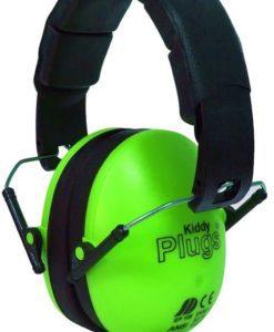 Kinder Gehörschutz grün KiddyPlugs seitlich