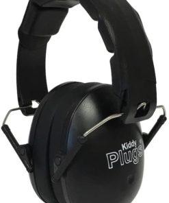 Kinder Gehörschutz schwarz KiddyPlugs seitlich