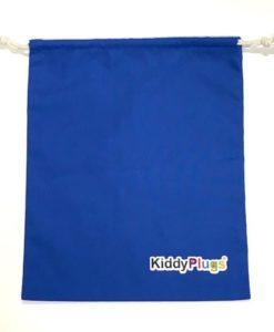 Kinder Gehörschutz Säckchen Baumwolle blau