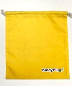 Kinder Gehörschutz Säckchen Baumwolle gelb
