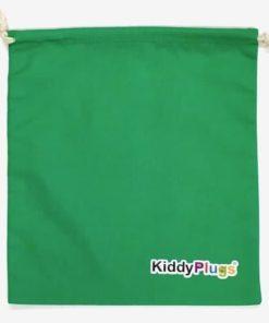Kinder Gehörschutz Säckchen Baumwolle grün