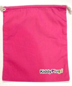 Kinder Gehörschutz Säckchen Baumwolle pink