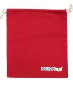 Kinder Gehörschutz Säckchen Baumwolle rot
