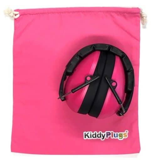 Kinder Gehörschutz pink Säckchen Baumwolle pink
