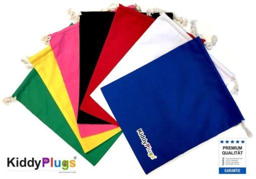 Kinder Gehörschutz Säckchen Baumwolle alle Farben