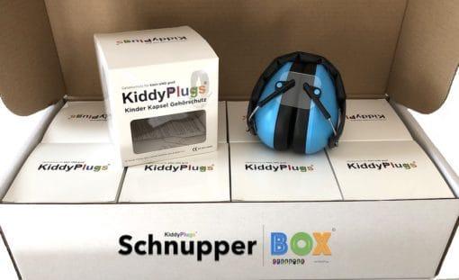 Kinder Gehörschutz Schnupperbox geöffnet