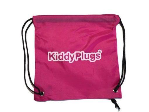 Kinder Gehörschutz Nylon Säckchen pink