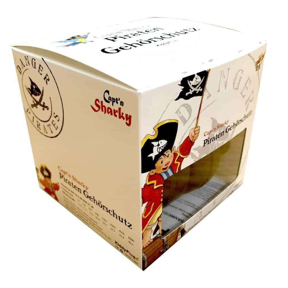Kinder Gehörschutz Pirat Captn Sharky Verpackung seitlich